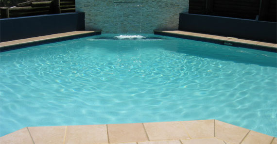 Beautiful Pool Wall Feature