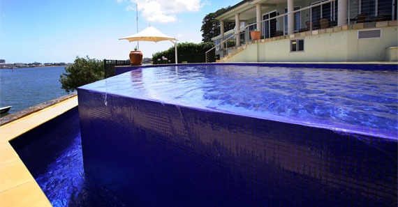 A Swimming Pool Built by Blue Water Pools